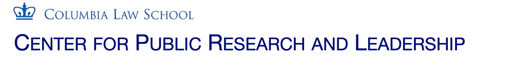 Center for Public Research & Leadership  logo