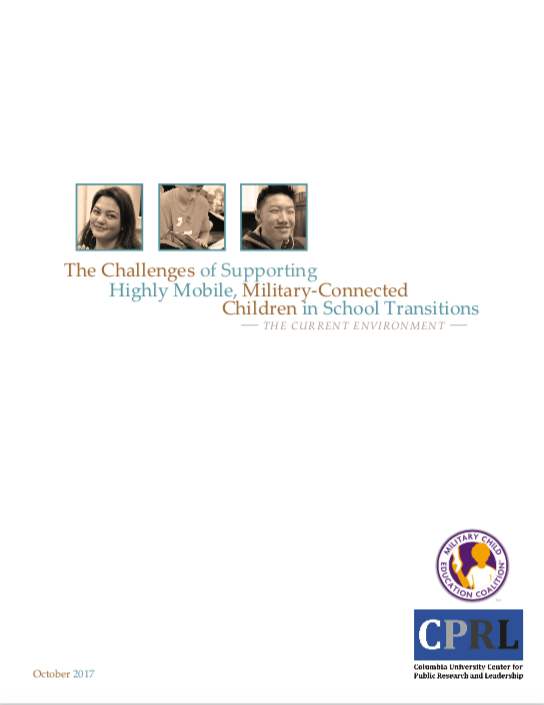 Image of Challenges of Supporting Highly Mobile, Military-ConnectedChildren in School Transitions Report Cover Page